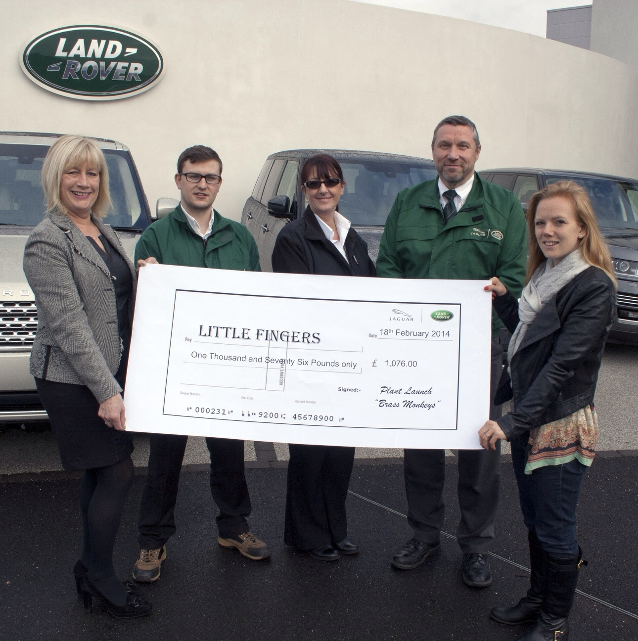 Picture of Land Rover Fund Raiser for little fingers