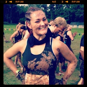 Picture of Wev finishing a tough mudder